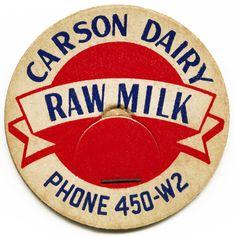 Old Design Shop ~ free digital image: vintage Carson Dairy milk bottle cap