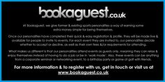 Are you a former or existing pro sports player interested in earning some extra money? Comment below or email bookings@bookaguest.co.uk for more info!