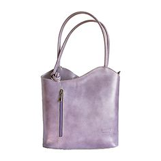 Multi-Way Lilac Leather Shoulder Bag/Backpack - £49.99