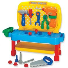 Megcos Toy Company LTD Educational Products - Megcos Tool Bench Toy -Affordable Gift for your Little One! Item #LMID-1275 - Includes 26 pieces! Megcos http://www.amazon.com/dp/B002C7WWC8/ref=cm_sw_r_pi_dp_FYAKvb1RPX6JS