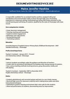 Teaching Assistant Cover Letter Example Sample Cover