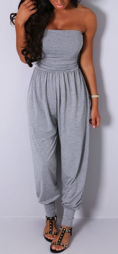 Pink Boutique Liberate #grey stretch #jersey #jumpsuit http://www.pinkboutique.co.uk/new-in/liberate-grey-stretch-jersey-jumpsuit.html #pinkboutique