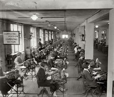 "November 24, 1924. Washington, D.C. ""Bonus Bureau, Computing Division. Many clerks figure the amount of the bonus each veteran is entitled to."""