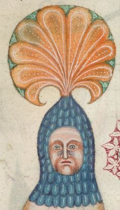 Detail from The Luttrell Psalter, British Library Add MS 42130 (medieval manuscript,1325-1340), f211v
