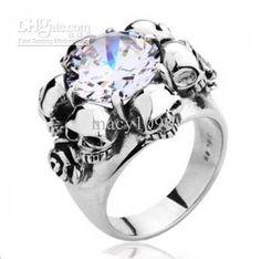 Wholesale Ring Skull - Buy Rose Skull Ring for Women 316L Stainless Steel Finger Rings Gothic Biker Rock Punk Jewelry TG0036, $11.04 | DHgate