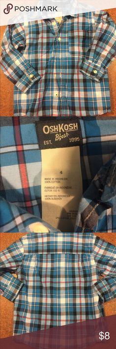 OshKosh boys long sleeve shirt Boys size 4 long sleeve button up shirt Osh Kosh Shirts & Tops Button Down Shirts