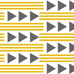 mustard stripes and gray arrows fabric by lilcleo on Spoonflower - custom fabric