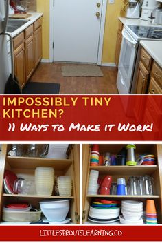 Don't think you can't cook for your family if you don't have all the latest stuff or a huge space to do it in. A tiny kitchen can be used efficiently.