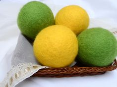 NEW. Set of 4 Wool Dryer Balls Eco-Friendly Wool by WoolSpring