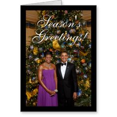 Celebrate the with this classy Christmas Card Featuring Barack & Michelle Obama in front of the white house Christmas tree. Description from zazzle.com.au. I searched for this on bing.com/images