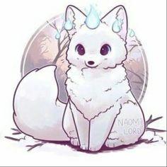 Pet Anime, Anime Animals, Cute Kawaii Animals, Cute Animal Drawings Kawaii, Cute Fox Drawing, Cute Drawings Of Animals, Cute Animals To Draw, Chibi Drawing, Drawing Drawing