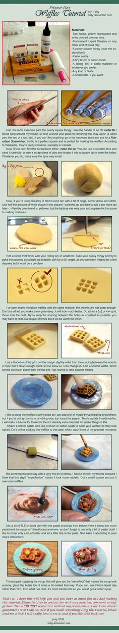 Polymer Clay Waffles Tutorial by Talty.deviantart.com