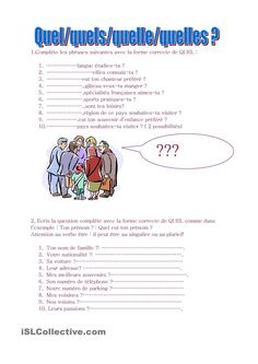 Quel quels quelle quelles ? French Flashcards, French Worksheets, French Class, French Lessons, French Grammar, French Immersion, Teaching French, Learn French, This Or That Questions