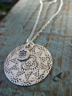 Southwest stamped necklace with a bohemian touch by CopperTreeArt, www.coppertreeart.com