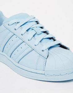 Image 4 ofadidas Originals Pharrell Williams supercolor Sky Blue Trainers