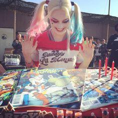 Margot Robbie's Harley Quinn birthday cake!