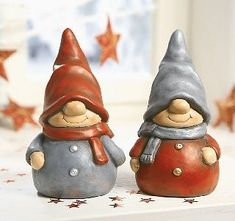 "ru / Inna-Mina – Album ""Andělé, trpaslíci, elfové a … Fimo Clay, Polymer Clay Projects, Clay Crafts, Wood Crafts, Christmas Clay, Christmas Crafts, Scandinavian Gnomes, Clay Fairies, Craft Free"