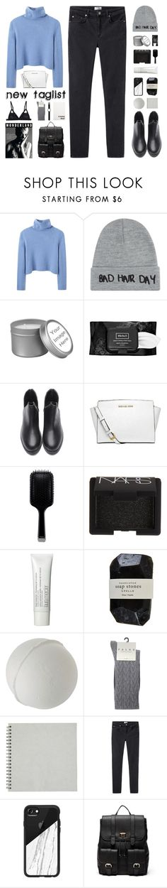 """Winter Chic"" by hey-its-lexiib ❤ liked on Polyvore featuring The Row, Local Heroes, Kat Von D, MICHAEL Michael Kors, GHD, NARS Cosmetics, Laura Mercier, Cassia, Falke and Acne Studios"