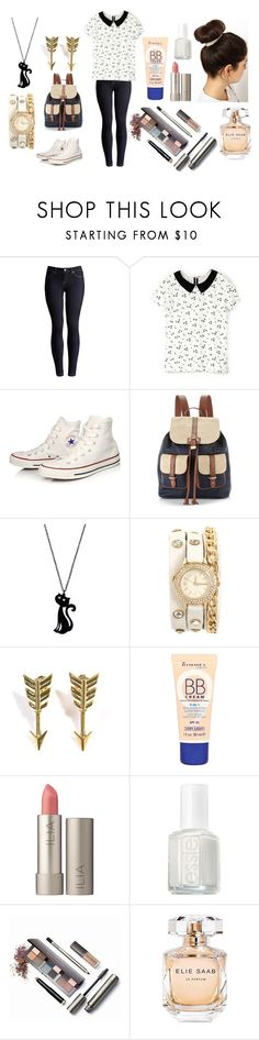 """""""style 346"""" by ghada-bunmahmas ❤ liked on Polyvore featuring Joules, Gola, Converse, Accessorize, Jade Jagger, Rimmel, Ilia, Essie, Laura Mercier and Elie Saab"""