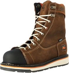 8988c9528ed9ec Timberland PRO Mens Gridworks 8 Soft Toe Waterproof Industrial and  Construction Shoe Brown Full Grain Leather 14 M US    See this great  product.