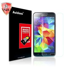 Samsung Galaxy S5 Screen ProtectorAuideas Samsung Galaxy S5 Tempered Glass Screen Protector for Samsung Galaxy S5 3Pack -- Want additional info? Click on the image.
