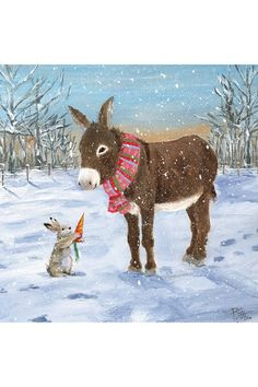 Little Donkey - Our pick of the sweetest festive greeting cards which help a good cause - from super traditional to kitsch, there's a card for you whatever your style
