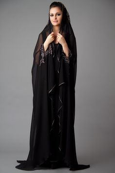 Combination of Hijab and abaya is now in trend in European countries. Several designers have launched latest Hijab and Abaya Collection 2014 for women. Burka Fashion, Suit Fashion, Hijab Fashion, New Fashion, Fashion Outfits, Dress Outfits, Fashion Ideas, Vintage Fashion, Abaya Designs