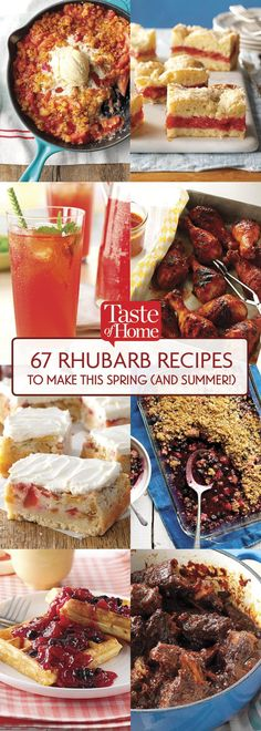 Enjoy our favorite sweet and savory rhubarb recipes. Make everything from rhubarb pie to rhubarb jam and even rhubarb barbecued chicken!