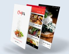 Ui design for chef24 android app.