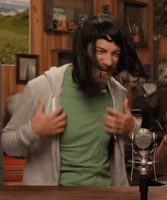 Random YouTube GIFs, They like to use wigs a lot at the Rhett and Link channel