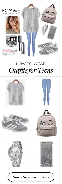 """""""Untitled #699"""" by aleksandra-203 on Polyvore featuring New Look, adidas Originals, Agent 18 and Bobbi Brown Cosmetics"""