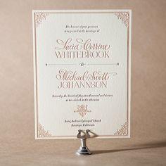 Victorian Elegance Letterpress Invitation Design Small