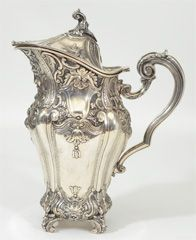 Portugese Sterling Silver Water Jug