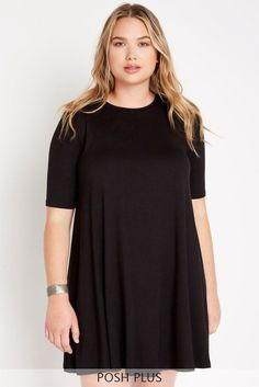 741af1e08bd Everyday Casual Trapeze Dress Plus Size