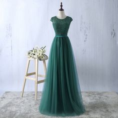 New Arrival A-Line Round Neck Cap Sleeves Long Prom Dress sold by dressthat. Shop more products from dressthat on Storenvy, the home of independent small businesses all over the world.