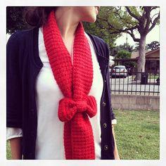 The Crochet Bow Scarf