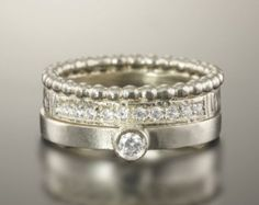 Forever Us Engagment Ring Set Two Stone Diamond Ring by Pompeii3