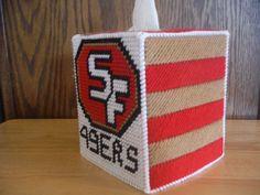 Fun To Find! by Jennifer Lacek on Etsy Graph Crochet, Free Crochet, Crochet Patterns, Plastic Canvas Tissue Boxes, Plastic Canvas Patterns, Nfl Football Helmets, Football Team, Kleenex Box, Craft Accessories