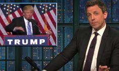 Seth Meyers Calls On Lawmakers To Do 1 Thing To Protest Donald Trump's Immigration Policies Trump Protest, Seth Meyers, Immigration Policy, Donald Trump, Presidents, Laughter, Night, America
