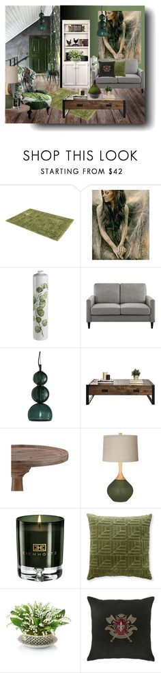 """""""Olive & Grey Retreat"""" by kelly-floramoon-legg ❤ liked on Polyvore featuring interior, interiors, interior design, home, home decor, interior decorating, William Morris, Timorous Beasties, Cuero and Eichholtz"""