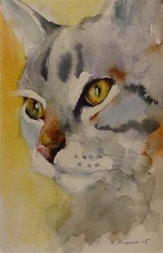 "Daily Paintworks - ""adopt88"" - Original Fine Art for Sale - © Katya Minkina"