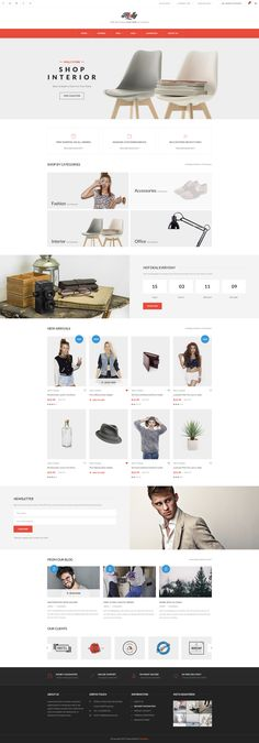 Molly - Elegant & Clean PSD Template http://bit.ly/molly-psd