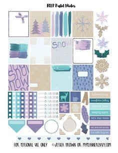 My Planner Envy: Pastel Winter Sampler - Free Planner Printable
