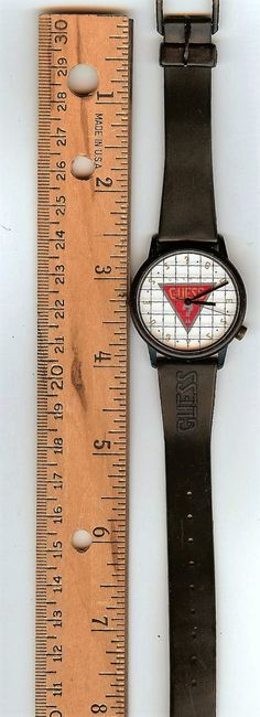 Vintage Unisex Guess Wrist Watch from 1988 Needs Battery for Parts or Repair L@@K!! by consignments on Etsy
