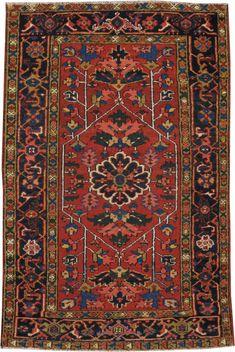 Antique Karajeh Rug, No. 9647 - 3ft. 2in. x 4ft. 9in.