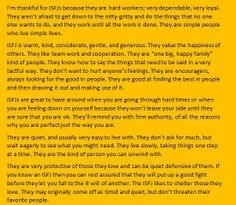 Nicest description of an ISFJ ever...aww this makes me happy. I don't know about timid... But the rest is pretty true.