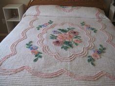 Floral Chenille Bedspread http://www.etsy.com/shop/westcoastboutique?ref=seller_info