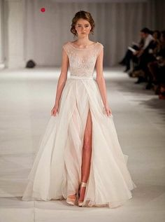 leg slit wedding dress 15 Wedding Dress Details You Will Fall In Love With