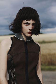 Grey Magazine Fall 2014 Vittoria Ceretti Fanny Latour-Lambert (6) #fringe #black