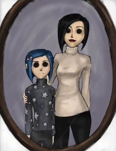 Welcome home Coraline -colored by ab-lynx on DeviantArt This is the kind of thing that I wan to achieve, only with a little blood under het eyes and on her cheeks